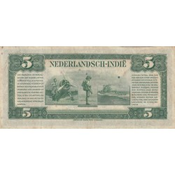 Netherlands Indies 5 Gouvernementsgulden / Roepiah P-113 XF