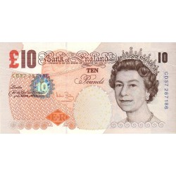 GREAT BRITAIN 10 Pound 2004 UNC - P.389c Sing: A. Bailey